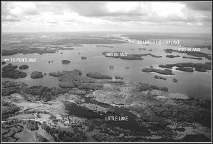 big rideau lake black and white