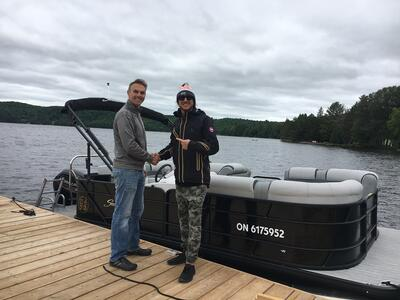 new pontoon boat delivery
