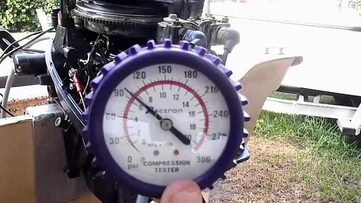 Marine boat engine compression test