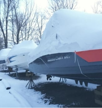 boats stored for winter in ontario